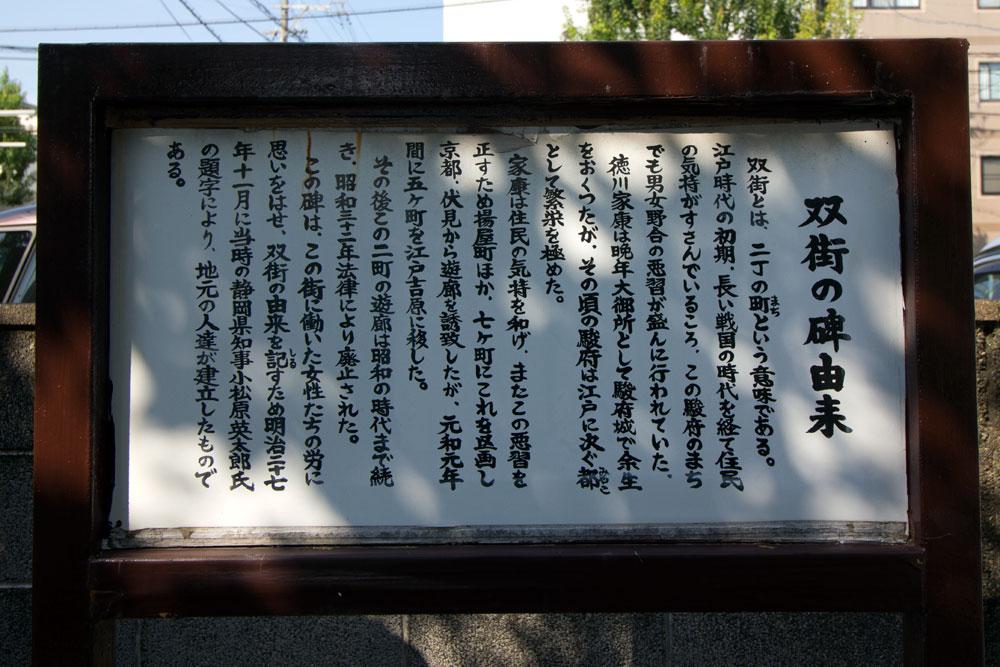 双町の碑の由来